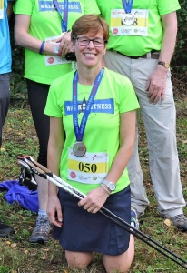Paula after winning yet another British Nordic Walking Challenge.